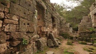 Starověké město Phaselis 7 — Stock video