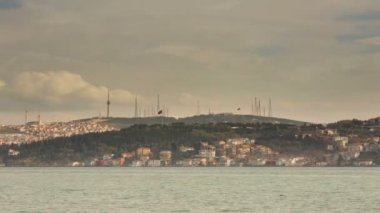 Time Lapse Photography sea traffic on the Bosphorus — Stock Video
