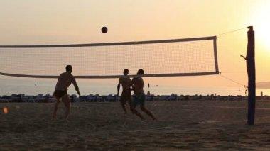 Beach etkinlik, Asian plaj voleybolu — Stok video