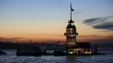 Famous place ancient Maiden's Tower — Stock Video