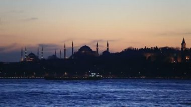 Famous place in istanbul scene — Vídeo de Stock