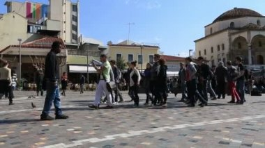 Monastiraki Square in Capital Cities Athens — Stock Video