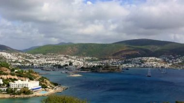 Very famous place travel destination Bodrum Bay (time lapse) — Stock Video
