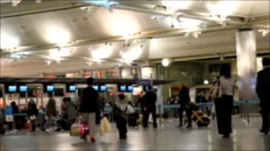 Airport blured HD 1080p — Stock Video