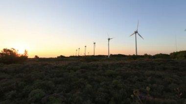 Wind turbine, windmill, green energy, renewable energy — Vídeo de stock