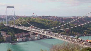 Bosporus met Bridge 2 Hd 1080p — Stockvideo