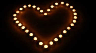 Candles burning for love  7 HD 1080p — Stock Video