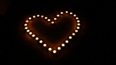 Candles burning for love  3 HD 1080p — Stock Video