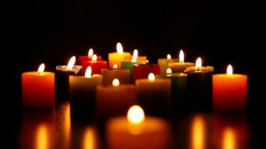 Candles burning for love  4 HD 1080p — Stock Video