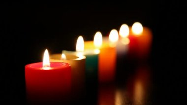 Candles burning for love  1 HD 1080p — Stock Video