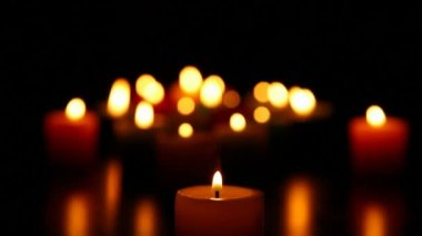Candles burning for love  2 HD 1080p — Stock Video