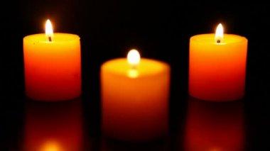 Three candle burning  6 HD 1080p — Stockvideo