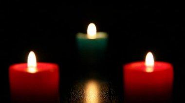 Three candle burning  3 HD 1080p — Stock Video