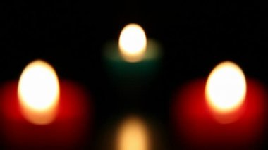 Three candle burning  2 HD 1080p — Wideo stockowe