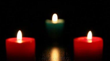 Three candle burning  1 HD 1080p — Stock Video