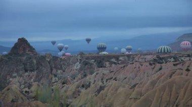 Air balloon trip at Famous city  Cappadocia Turkey — Stock Video