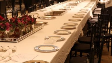 Elegant  dinner table setting 5 HD 1080p — Stock Video
