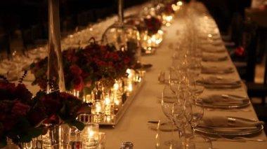 Elegant  dinner table setting 3 HD 1080p — Stock Video