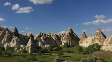 Cave house city at cappadocia — Stock Video