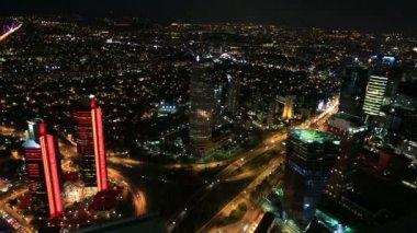 夜の空中 wiev イスタンブール シティ — ストックビデオ