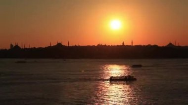 Zeit-Zeitraffer-Kontur in istanbul — Stockvideo