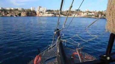 Sea trip time lapse — Stock Video