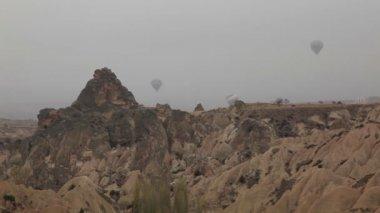 Air balloon trips at Famous city  Cappadocia Turkey — Stock Video