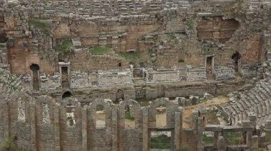 Antika amfiteatern av perge — Stockvideo