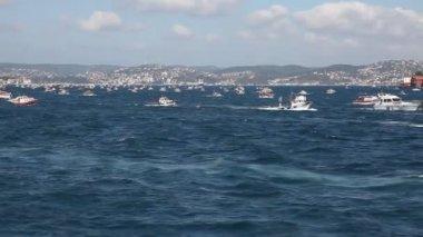 Fishing fleet 3 HD 1080p — Stock Video