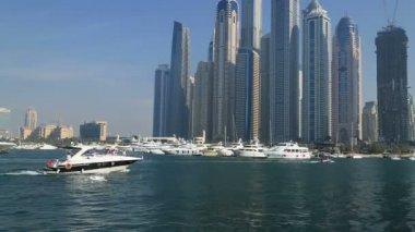 Dubai marina and towers — Stock Video