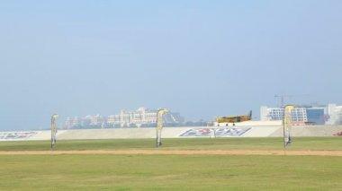 Vue de zone Dubai Skydive — Vidéo