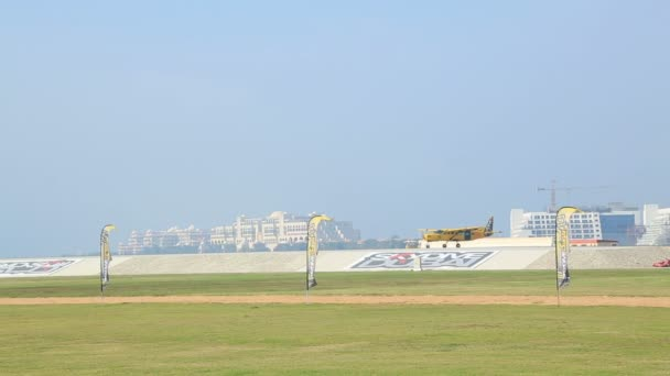 Vista área de Skydive Dubai — Vídeo de stock