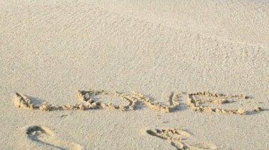 Miłość na piasku — Wideo stockowe
