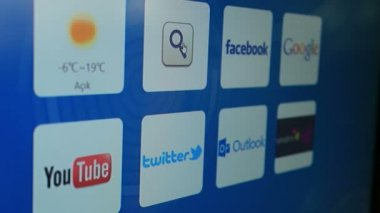 Google Internet Search Website — Stock Video