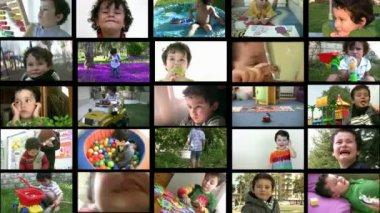 Portrait of a  little boy — Stock Video