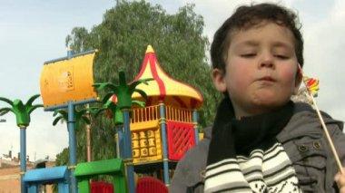 Happy Little Boy — Stock Video