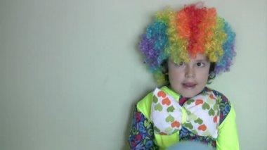 Little clown — Stock Video