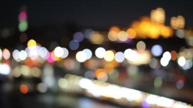 Výhled z mostu Galata. Galata Bridge je most, který se klene Zlatý roh v Istanbulu. -Video skladem — Stock video