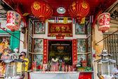 Maymun Kral Tapınak, Chinatown, Bangkok Tayland. — Stok fotoğraf