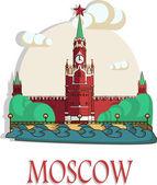 Moscow brochure or flier. — 图库矢量图片