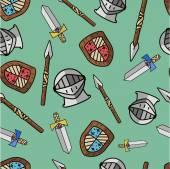 Padrão de guerreiro para crianças — Vetor de Stock