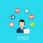 Support call center vector illustration. — Stock Vector