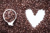Coffee Heart — Stock Photo
