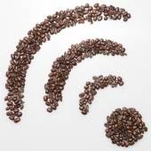 Coffee wifi symbol — Stock Photo