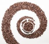 Coffee whirl — Stock Photo