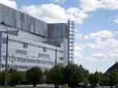 Industrial concrete block building. — Stock Photo