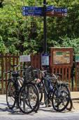 Cykel parkering — Stockfoto
