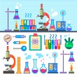 Chemical Laboratory in flat style Chemical Laboratory — Stock Vector #73265653