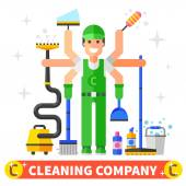 Cleaning company worker — Stock Vector