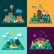 Urban and village landscapes — Stock Vector #73414017